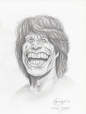 Digital Art - Mick Jagger by Hay Rouleaux
