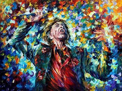 Mick Jagger Art Print by Leonid Afremov