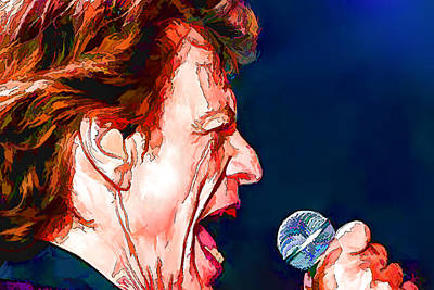 Digital Art - Mick Jagger by Marlene Watson