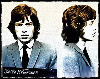 Mick Jagger Mugshot Art Print by Bill Cannon