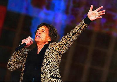 Mick Jagger Print by Galeria Zullian  Trompiz