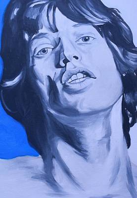 Mick Jagger Poster Painting - Mick Jagger Rolling Stones Portrait by Mikayla Ziegler