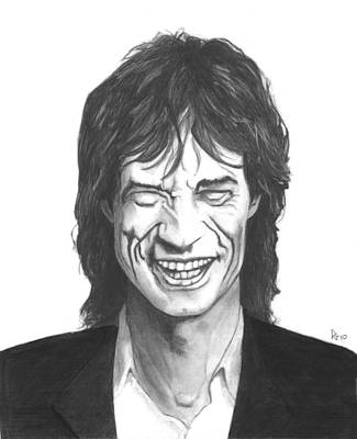 Mick Jagger Art Print by Russell Griffenberg