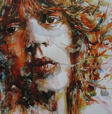 Rolling Stones Painting - Mick Jagger - Start Me Up  by Paul Lovering