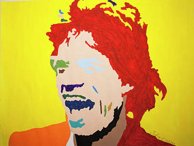 Painting - Mick Jagger by Stormm Bradshaw