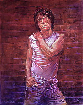 Rolling Stones Wall Art - Painting - Mick Jagger The Wall by David Lloyd Glover