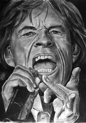 Drawing - Mick Jagger by William Underwood