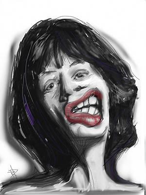 Mick Art Print by Russell Pierce