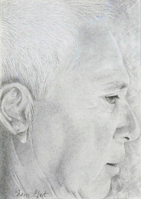 Drawing - Mick by Sharon Ebert