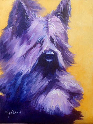 Mick Skye Terrier Art Print by Terry  Chacon