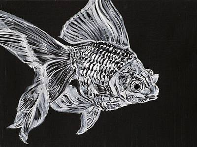 Mick The Goldfish Art Print