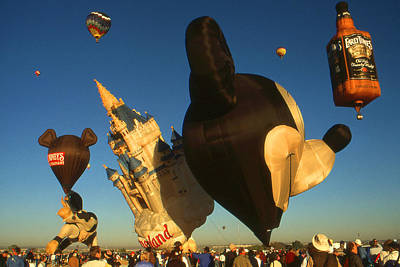 Photograph - Mickey Mouse And Friends - Hot Air Balloons by Art America Gallery Peter Potter