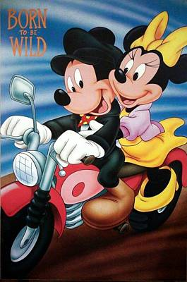 Painting - Mickey And Minnie Mouse by Sheila Mcdonald