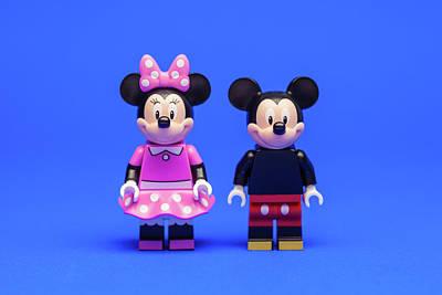 Cartoon Photograph - Mickey And Minnie by Samuel Whitton