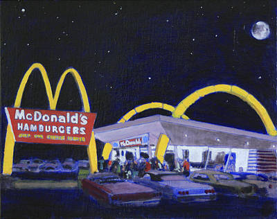 Hamburger Painting - Mickey Dee's by David Zimmerman