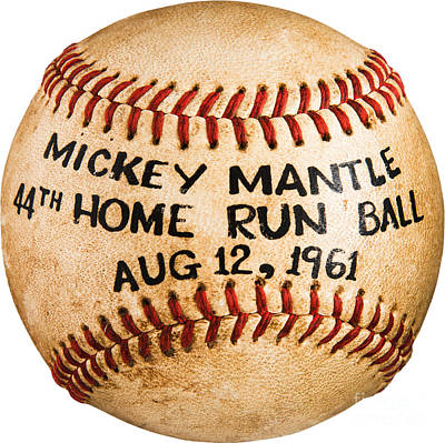 Digital Art - Mickey Mantle 44th Home Run Baseball August 12 1961 by Unknown