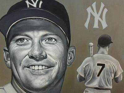Mickey Mantle Painting - Mickey Mantle by Brandon Ramquist