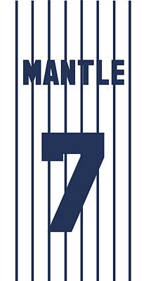 Athletes Royalty-Free and Rights-Managed Images - Mickey Mantle Jersey by Positive Images