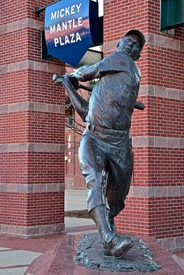 Athletes Royalty-Free and Rights-Managed Images - Mickey Mantle Plaza by Frozen in Time Fine Art Photography
