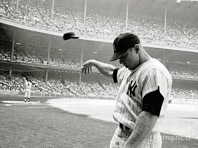 Yankee Stadium Mixed Media - Mickey Mantle by Thomas Pollart
