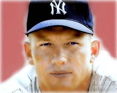 Mickey Mantle Painting - Mickey Mantle by Wbk