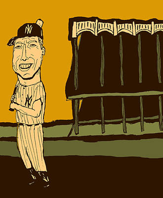 Athletes Royalty-Free and Rights-Managed Images - Mickey Mantle Yankee Stadium by Jay Perkins