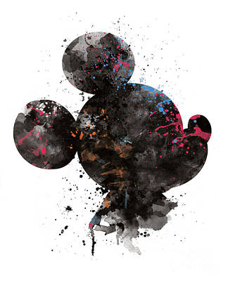 Mouse Mixed Media - Mickey Mouse by Monn Print