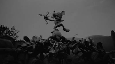 Mickey Mouse In Black And White Original by Rob Hans