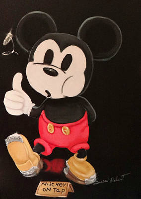 Painting - Mickey On Tap by Susan Roberts