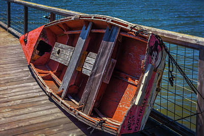 Boat Pier Photograph - Mickey Rat Row Boat by Garry Gay