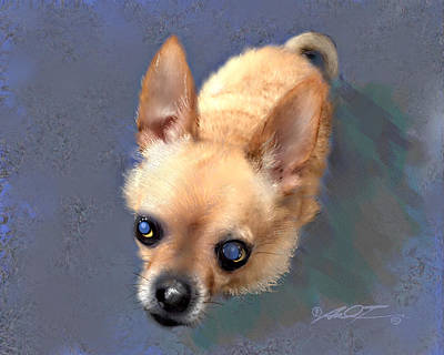 Painting - Mickey The Rescue Dog by Dale Turner