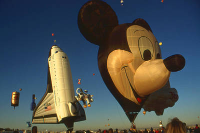 Buy Photograph - Mickey With Shuttle - Hot Air Balloon Fiesta by Art America Gallery Peter Potter