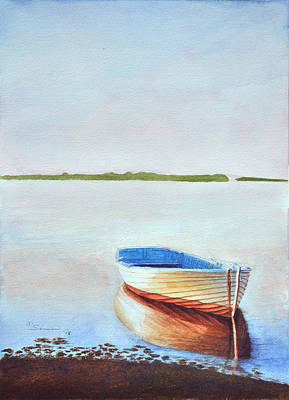Dingy Painting - Mickey's Boat by C Wilton Simmons Jr