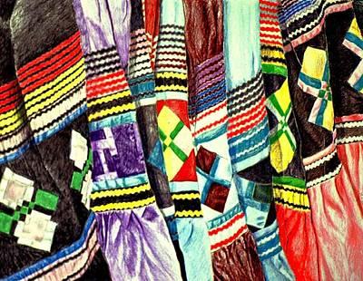 Micosukee Skirts Art Print by Sam Vega