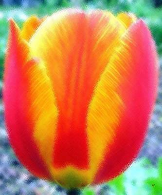Micro Linear Tulip Art Print