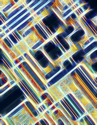Microchip Photograph - Microchip, Artwork by Pasieka