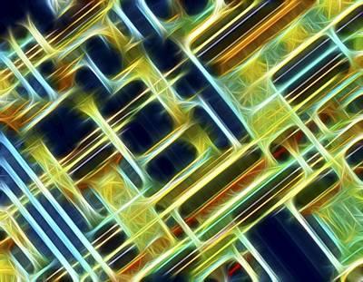 Microchip Photograph - Microchip, Light Micrograph, Artwork by Pasieka