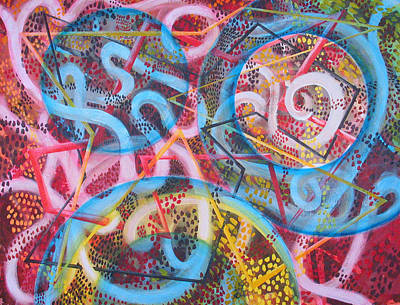 Microcosm Xii Art Print by Rollin Kocsis