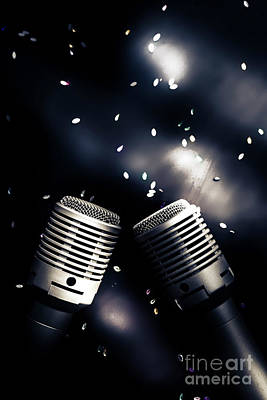 Confetti Photograph - Microphone Club by Jorgo Photography - Wall Art Gallery
