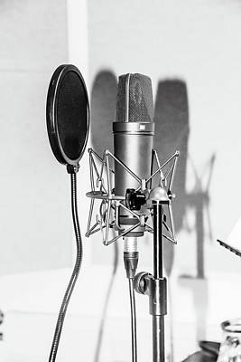 Photograph - Microphone  by Tom Conway