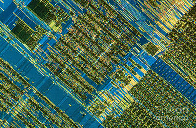 Integrated Photograph - Microprocessor by Michael W. Davidson