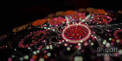 Digital Art - Microscopic V - Glitter by Sandra Hoefer