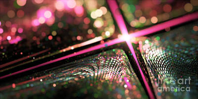 Digital Art - Microskopic Vi - Disco Fever by Sandra Hoefer