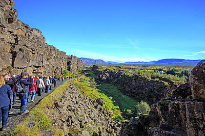 Photograph - Mid-atlantic Rise In Thingvellir, by Allan Levin
