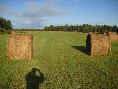 Photograph - Mid August Hay Bales And Field by Kent Lorentzen
