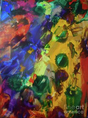 Justine Painting - Mid-century by Elle Justine