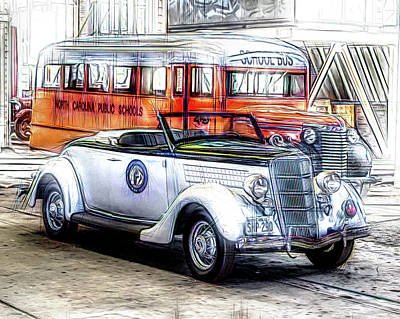Photograph - Mid Century Transportation by Larry Bishop