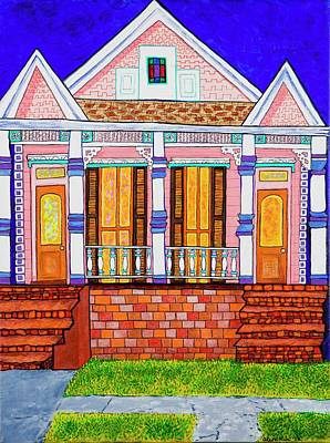 Spindles Painting - Mid City Sweetheart by Aleta Kim Lawton