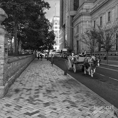 Streetshot Photograph - Mid Day Carriage Ride by Michael Beresin