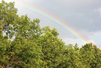 Photograph - Mid Day Rainbow by Mary Bedy